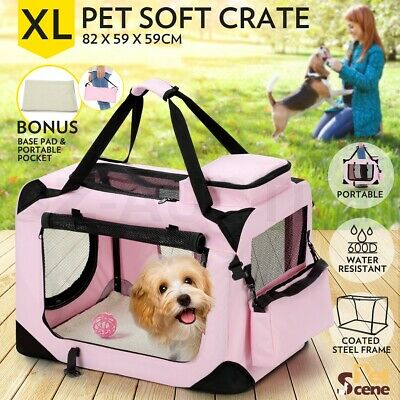 XL Pet Carrier Portable Soft Crate Cage Dog Cat Travel Bag Kennel Foldable