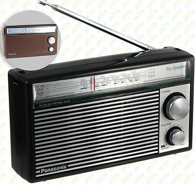 Radio Panasonic Multibanda Vintage FM, AM - MW, SW + Funda