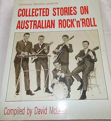 Collected Stories On Australian Rock'n'roll -David Mclean-200 Page Book-Canetoad