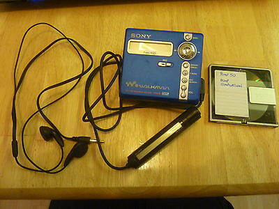 Sony Net MD MZ-N707 blue portable personal MiniDisc player recorder