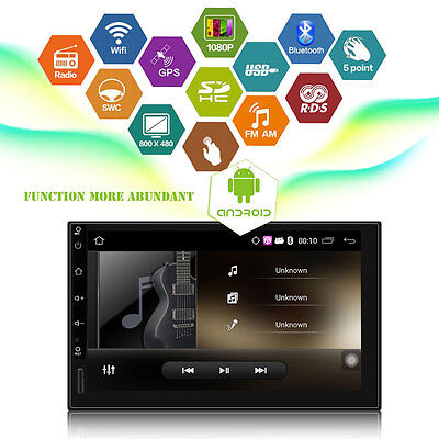 "7"" Android 5.1 Autoradio Bluetooth Nav 2 DIN USB GPS 3G WIFI Music Car Player"
