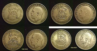 GEORGE V SHILLING 50% SILVER 1920 - 1936 Supplied in coin wallet