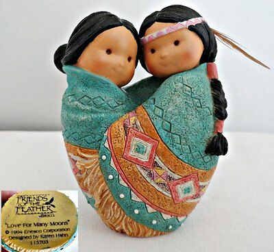 Enesco Friends of the Feather Love for Many Moons Figurine