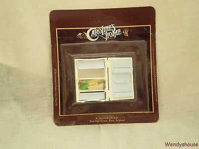Vintage Carolines Home Dolls House Fridge & Contents / Food Moc Free Uk P & P