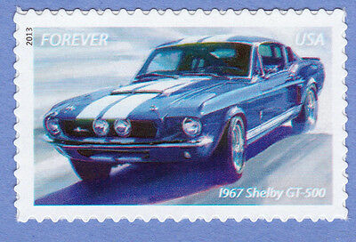 1967 SHELBY GT-500 MUSCLE CAR Ford MUSTANG Forever Stamp UNUSED USPS Postage NEW