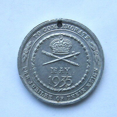 1935 KING GEORGE V SILVER JUBILEE 32mm ALUMINIUM MEDAL by TURNER & SIMPSON