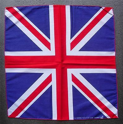 GREAT BRITAIN Bandanna UNION JACK Handkerchief National Flag Cotton Head Scarf