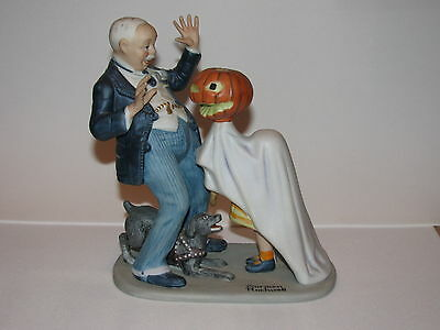 """The Twelve Porcelain Figurines Norman Rockwell """"Trick or Treat"""" 1980 Mint"""