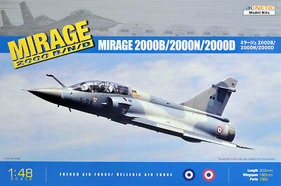 KINETIC 48032 Mirage 2000B/N/D (French / Hellenic AIr Force) in 1:48