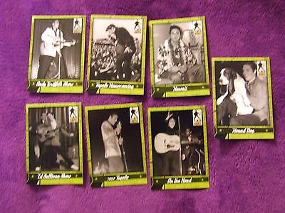 2007 Elvis Presley Trading Card Lot Of 7 - The 50's