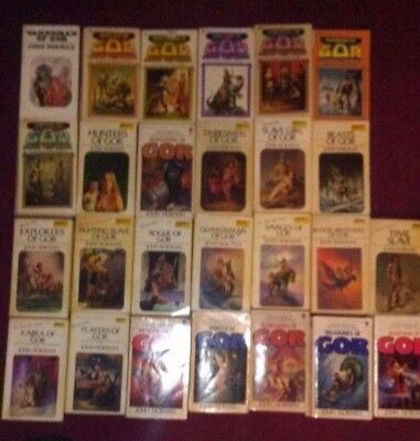 Gor set books 26 book vintage collectible John Norman lot counter 1-25 complete