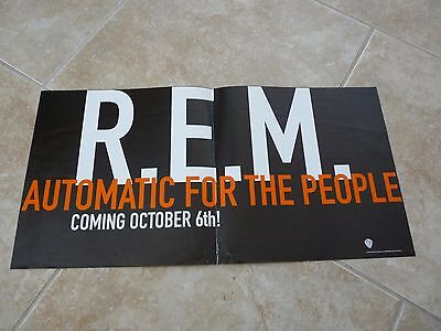 R.E.M. Automatic For The People 1992 12x24 Record Store Promo Poster