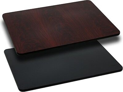 """NEW 24""""x 30"""" RECTANGULAR TABLE TOP BLACK LAMINATE RESIDENTIAL FURNITURE TABLES"""