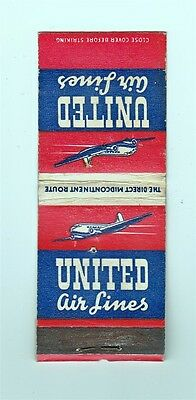 Matchbook: United Airlines (twin engine airplane)