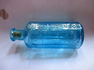 A. Lancaster's Indian Vegetable Jaundice Bitters - Repro Wheaton Bottle - Blue