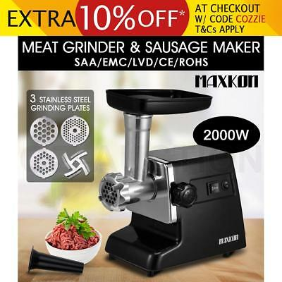 2in1 2000w Electric Meat Mincer Grinder Stainless Steel Sausage Kubbe Maker