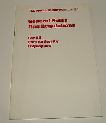 1975 The Port Authority Of Ny & Nj - Employee General Rules & Regulations