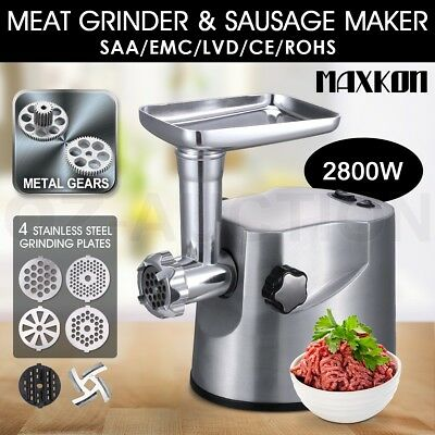 NEW 2800w Electric Meat Mincer Grinder Stainless Steel Sausage Kubbe Maker Pasta