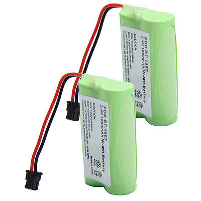 2x 1600mAh NIMH Battery For Uniden BT1007 BT-1007 BT904 BP904 Panasonic HHR-P506