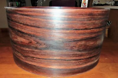 7X14 Steam Bent Cocobolo Snare Drum Shell With Steam Bent Re Rings