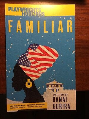 FAMILIAR  *Signed* Play Script By DANAI GURIRA (WALKING DEAD) New Autographed