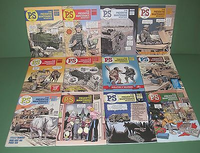2007 Lot of 12 US Army PS Preventive Maintenance Monthly Magazines Book Issue