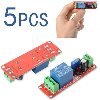 5X 12V Delay Timer NE555 Monostable Switch Relay Module Adjustable Arduino TE155