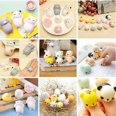 Funny Cute Anti Stress Face Reliever Animal Fruit Autism Mood Vent Squeeze Toys