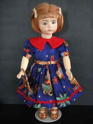 "Antique French Bisque ALBERT MARQUE Reproduction doll. 11.5"".Blue eyes -G.BRAVOT"