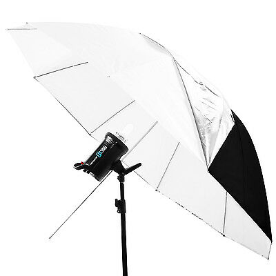"""Neewer 59"""" White Convertible Umbrella with Removable Black Cover"""