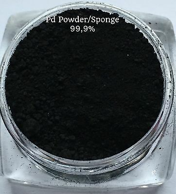 Palladium Powder / Sponge 99,9% - 3g