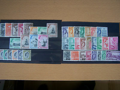 42 Different U/mint Early British Commonwealth Qe11, Definitives,nice Lot.