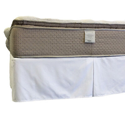 """Queen Size 650TC Wrinkle-Free Cotton Split Corner Bed Skirt with 15"""" Drop"""