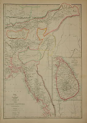 India. The Eastern Provinces And Ceylon.... By Edward Weller 1863.