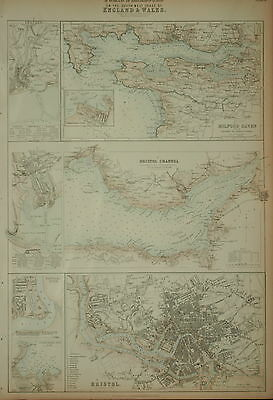 Ports & Harbours On The South West Coast Of England And Wales  Fullarton 1874.