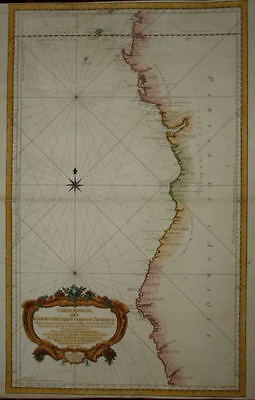 West Coast Of Africa. Equator To 20Th Degree . Bellin 1754..