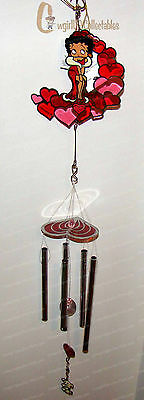 Hearts BETTY Suncatcher Windchime (Betty Boop by Westland, 20002)