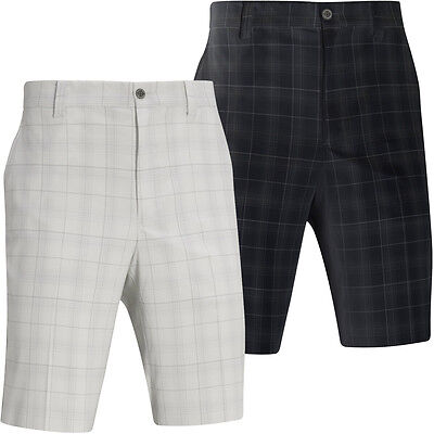 60% OFF RRP Mizuno Golf Mens DryLite Check Shorts Flat Front Plaid Performance