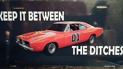 Dukes Of Hazzard 01 Charger New sealed metal license plate tag