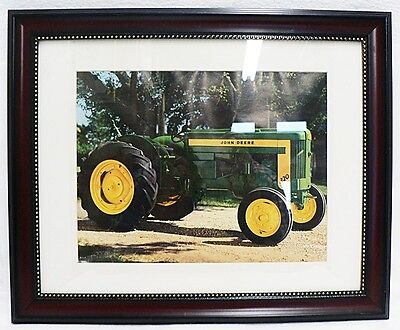 Framed And Matted John Deere Model 320 Tractor Picture Photograph