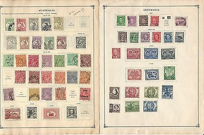 Australia Collection on Scott International Pages, 1913-1963, 13 Pages