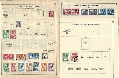 Bechuanaland Protectorate Collection on Scott International Pages, 1898-1958