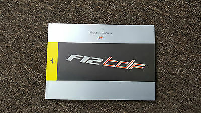 Ferrari F12 TDF Owner's Manual ENGLISH Oct 2015 269 pages!!