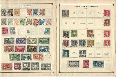 Bosnia & Herzegovina Collection on Scott International Pages, 1879-1918, 4 Pages