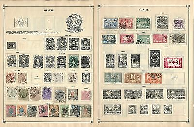 Brazil Collection on Scott International Pages, 1850-1962, 36 Pages