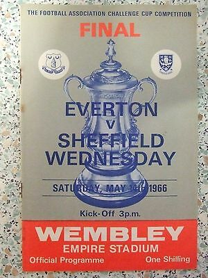 ORIGINAL 1966 FA CUP FINAL PROGRAMME: EVERTON v SHEFF WEDNESDAY: SIGNED LOOK !!!