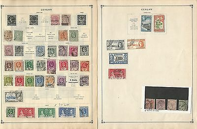 Ceylon Collection on Scott International Pages, 1888-1961, 8 Pages