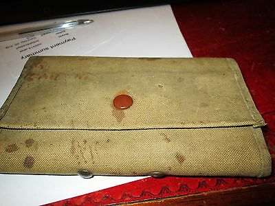 Vintage Canvas Fly Walet With Flys