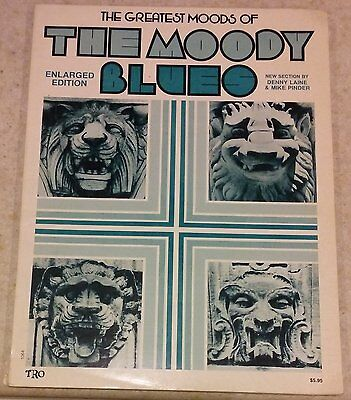 Vtg 1974 Greatest Moods of The Moody Blues Sheet Music Book TRO Essex Music