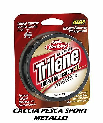 Trilene 100% FLUOROCARBON XL Berkley 0.50 mm 50 MT 16,7 KG CLEAR filo INVISIBILE